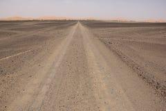 Woestijn Road Royalty-vrije Stock Afbeeldingen