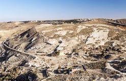 Woestijn Shobak in Jordanië Stock Foto's