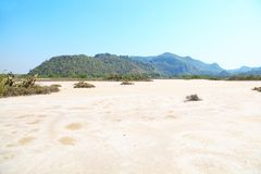 Woestijn in Thailand Stock Foto