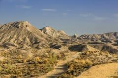Woestijn van Tabernas Stock Afbeeldingen