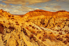 Woestijn van Tabernas, in Spanje Stock Foto
