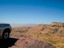 Woestijn in Yemen, de aard van de woestijn stock foto