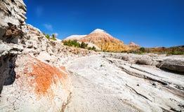 Woestijncanion en berg Stock Foto's