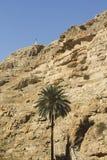 Woestijncanion van Wadi Kelt Stock Afbeelding