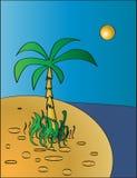 Woestijneiland Royalty-vrije Illustratie