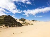 Woestijnen onder de hemel stock afbeelding