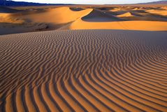Woestijnlandschap, de woestijn van Gobi, Mongolië Stock Fotografie