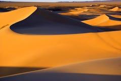 Woestijnlandschap, de woestijn van Gobi, Mongolië royalty-vrije stock fotografie