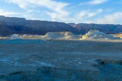 Woestijnlandschap, en de vorming van de marlstonerots Stock Fotografie