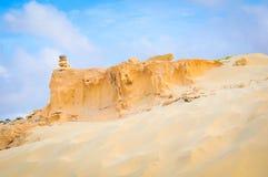 Woestijnlandschap in Kaapverdië, Afrika Stock Afbeeldingen