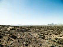 Woestijnlandschap, Lanzarotte, Canarische Eilanden royalty-vrije stock afbeelding