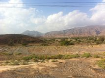 Woestijnlandschap Marokko royalty-vrije stock fotografie