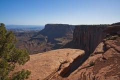 Woestijnlandschap van Canyonlands Stock Afbeeldingen