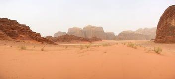 Woestijnlandschap - Wadi Rum, Jordanië Royalty-vrije Stock Afbeelding