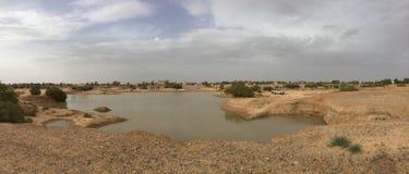 Woestijnmeer in Jordanië Stock Afbeelding