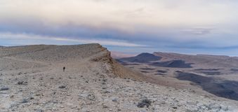 Woestijnpanorama in Israel Ramon-krater Royalty-vrije Stock Foto's