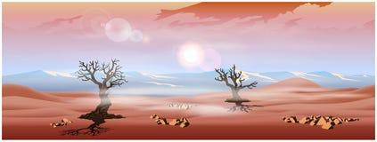 Woestijnpanorama van de hooglanden Stock Foto's