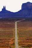 Woestijnrijweg Stock Fotografie