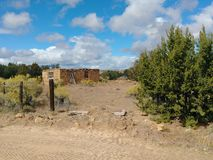 Woestijnruïne stock fotografie