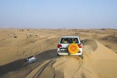 Woestijnsafari in Doubai, de V.A.E Royalty-vrije Stock Foto
