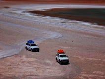 Woestijnsafari in een Jeep Royalty-vrije Stock Foto