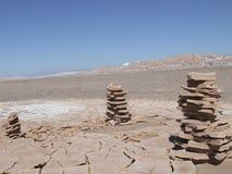 Woestijnstapels Stock Foto's