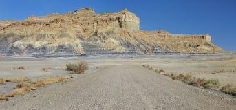 Woestijnweg de V.S. stock afbeeldingen