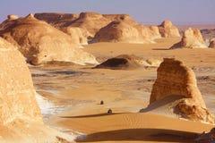 Woestijnwegen Royalty-vrije Stock Afbeeldingen