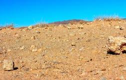 Woestijnzand in Afrika stock afbeeldingen