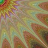 Woestijnzon - abstract geometrisch fractal ontwerp Royalty-vrije Stock Foto's