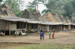 Wogo-Dorf, Flores-Insel lizenzfreie stockfotografie
