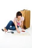 Wohin man reist? stockbilder