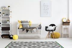 Wohl überlegter Raum für ein Baby lizenzfreie stockfotografie