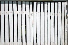 Wohle Zaunplanken des Weiß Lizenzfreies Stockbild