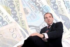 Wohlhabender Geschäftsmann Stockfotos