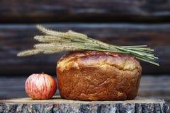 Wohlriechendes selbst gemachtes Brot mit goldener Kruste lizenzfreie stockbilder