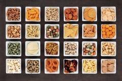 Wohlschmeckende Imbisse Lizenzfreie Stockbilder