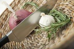 Wohlschmeckende kochende Bestandteile stockbild