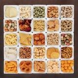 Wohlschmeckende Snack-Auswahl Lizenzfreies Stockbild