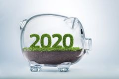 Wohlstandsjahrkonzept 2020 Lizenzfreie Stockbilder