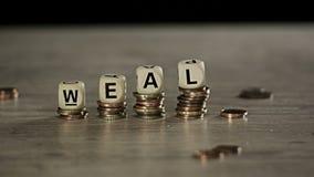 Wohlstandswachstumskonzept stock video