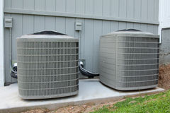 Wohn-HVAC-Maßeinheiten Stockbild