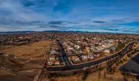 Wohn- Nachbarschaft in Nord-Denver Colorado stockfotografie
