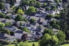 Wohn- Unterteilung im Okanagan-Tal West-Kelowna-Britisch-Columbia Kanada stockfoto