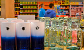 Wohnaccessoires - Glasvasen Stockfoto