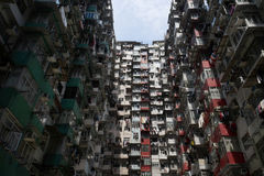 Wohnaltbau in Hong Kong Stockfotografie