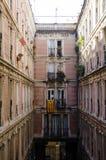 Wohnarchitektur in Barcelona stockfoto
