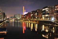 Wohnbezirk in der Frankfurt-Stadt Lizenzfreie Stockfotografie
