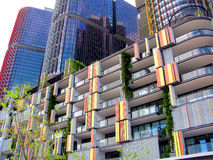 Wohnblock in Kreis-Quay, Sidney, Australien Stockfotos