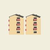 Wohnblockbetonebenen stock abbildung